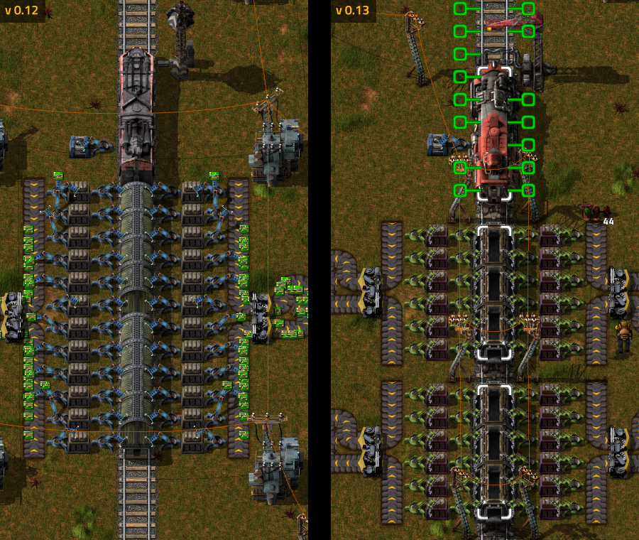 Trains comparison