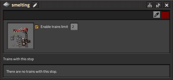 Train Stop Limit GUI